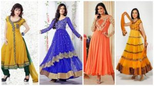 Types of anarkali dress fabrics
